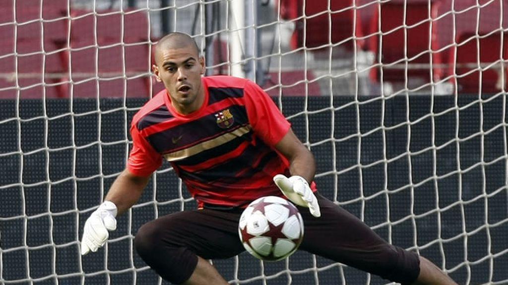 Valdés, durante un entrenamiento