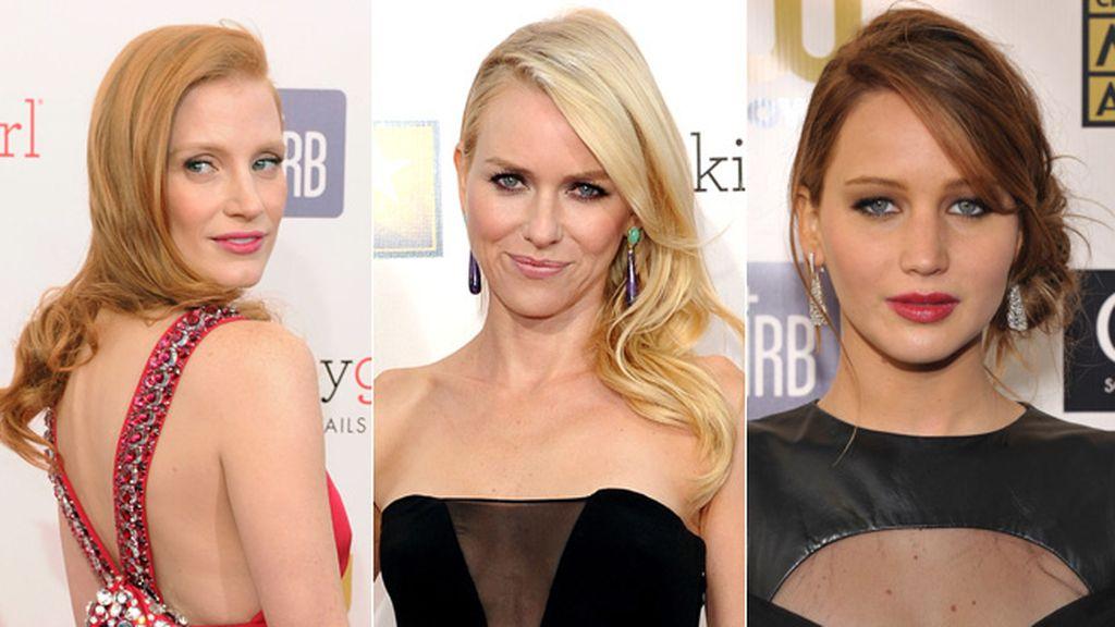 Naomi Watts, Jennifer Lawrence y Jessica Chastain luchan por el Oscar a la mejor actriz