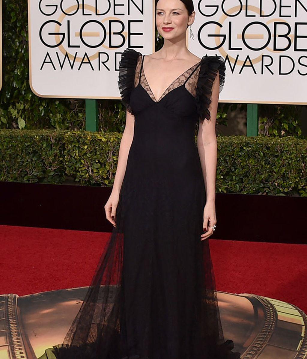 Caitriona Balfe vestida de Alexander McQueen