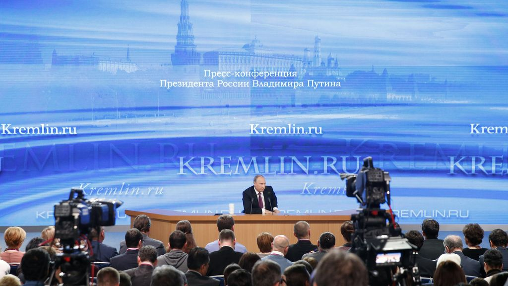 Rueda de prensa del presidente ruso, Vladimir Putin.