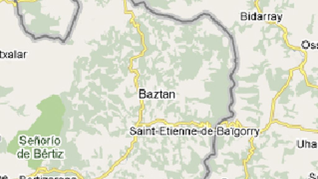Mapa de Baztán