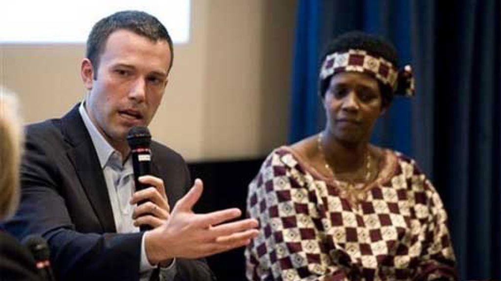 Affleck y Jagger con los refugiados del Congo