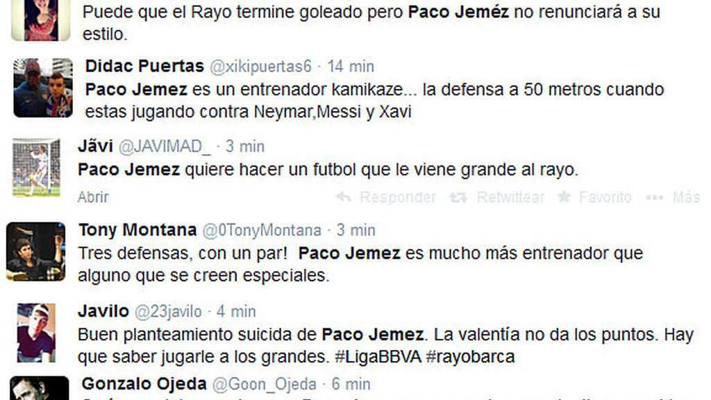 Tuits Paco Jémez