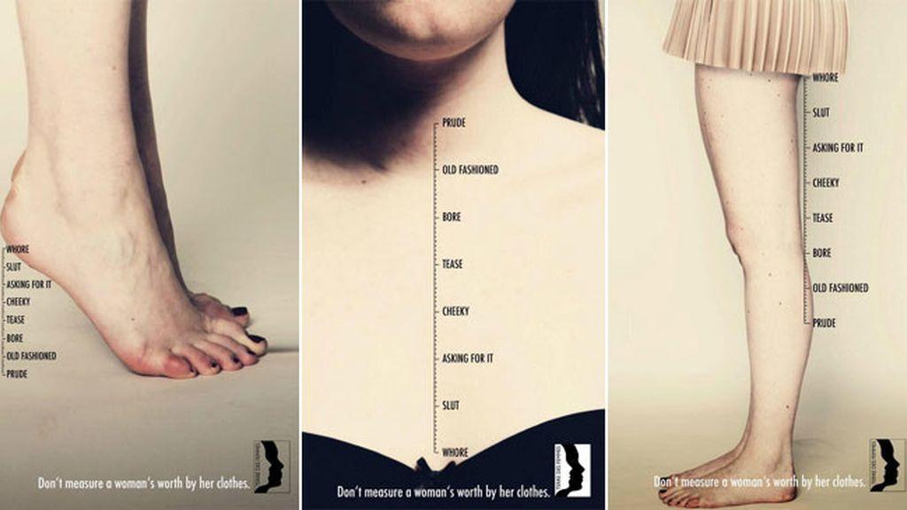 'Don't measure a woman's worth by her clothes' campaña igualdad de género