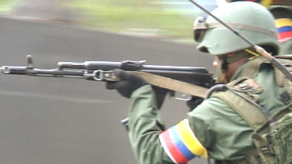 Un militar del ejército venezolano
