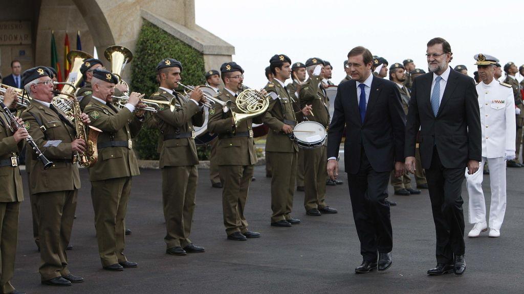 Mariano Rajoy y Passos Coelho en Baiona
