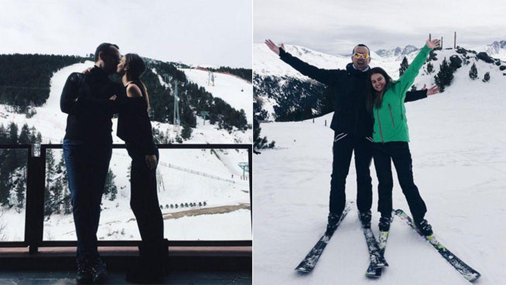 """Laura Escanes y Risto Mejide esquiando en Andorra y queriéndose """"#toelrrato"""""""