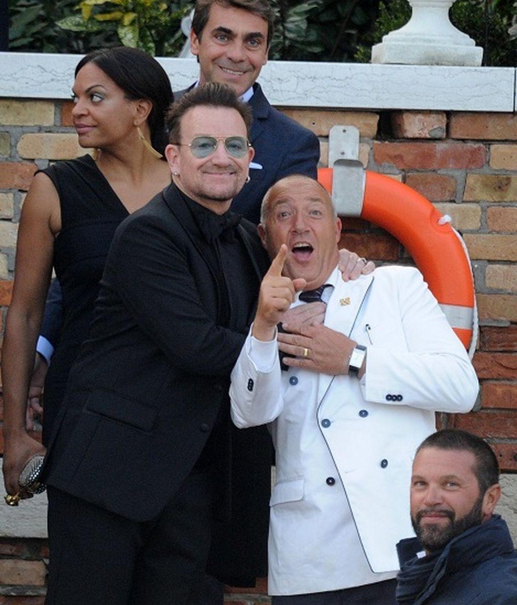El cantante Bono no se quiso perder la ceremonia