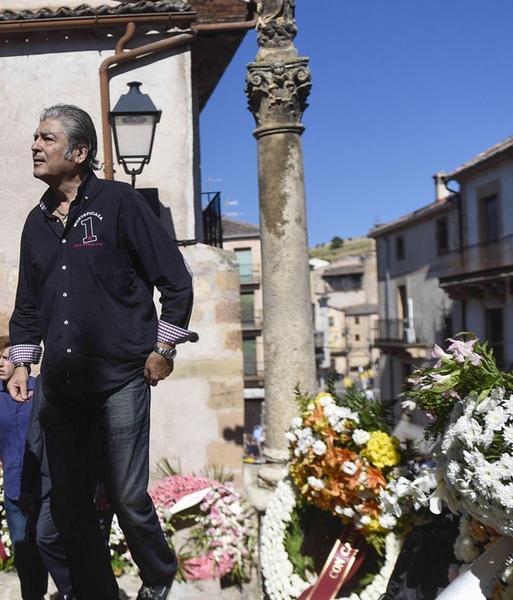 Máximo Valverde, en el funeral de Víctor Barrio