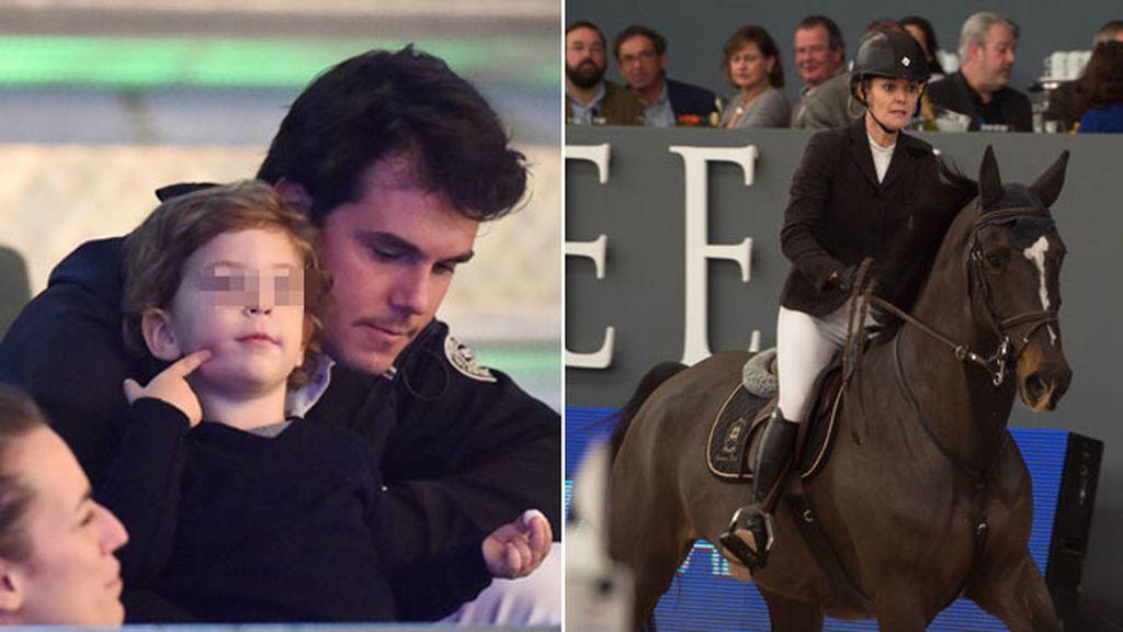 A su vez, Sergio Álvarez, estuvo con su hijo mientras Marta competía