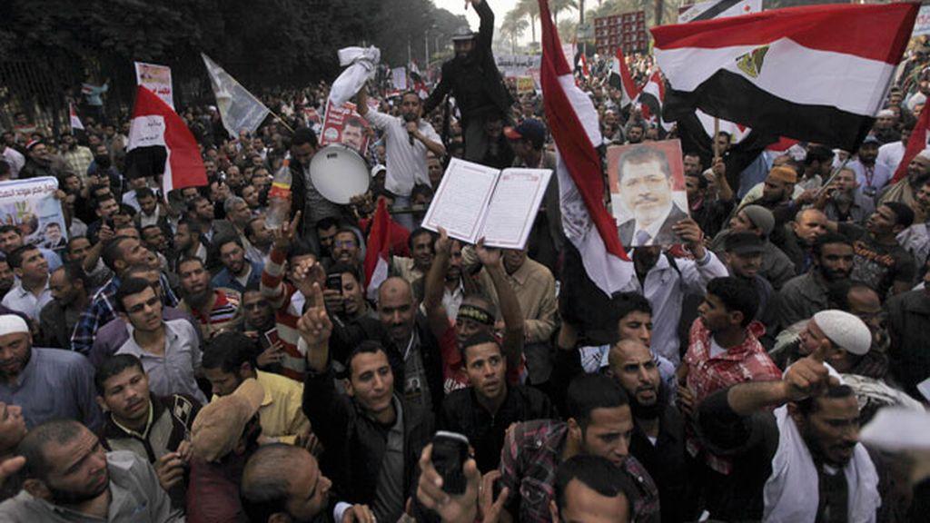 Manifestación islamista en El Cairo