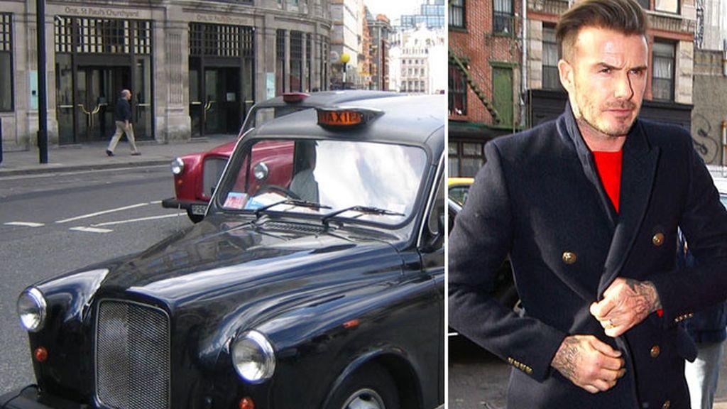 Beckham para ser feliz quiere... ¡un taxi!
