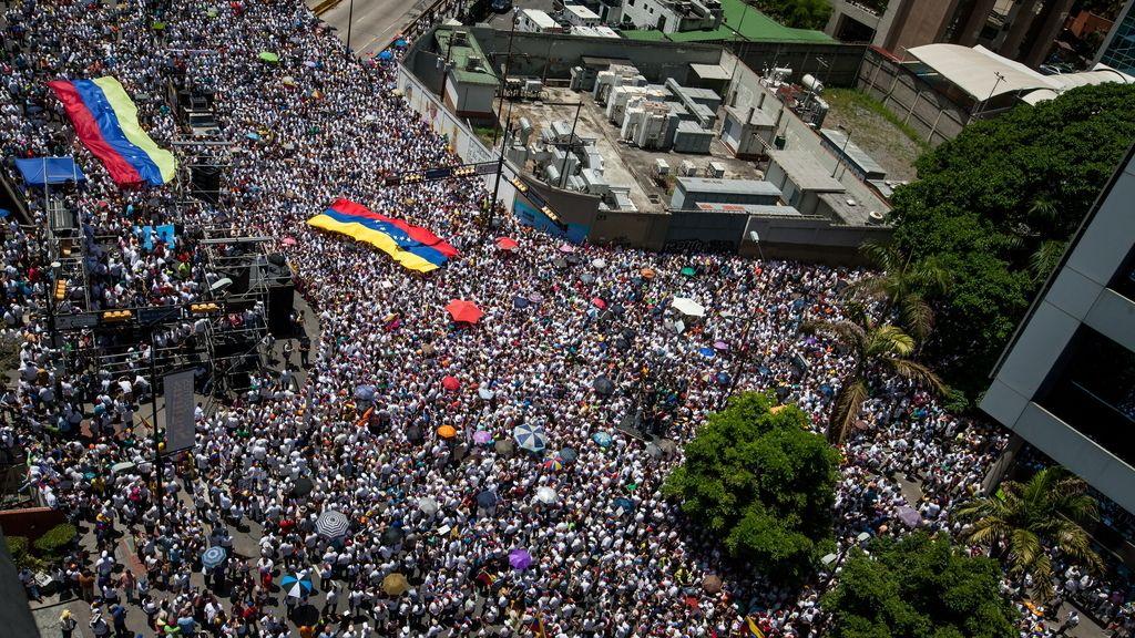 Manifestación en Caracas