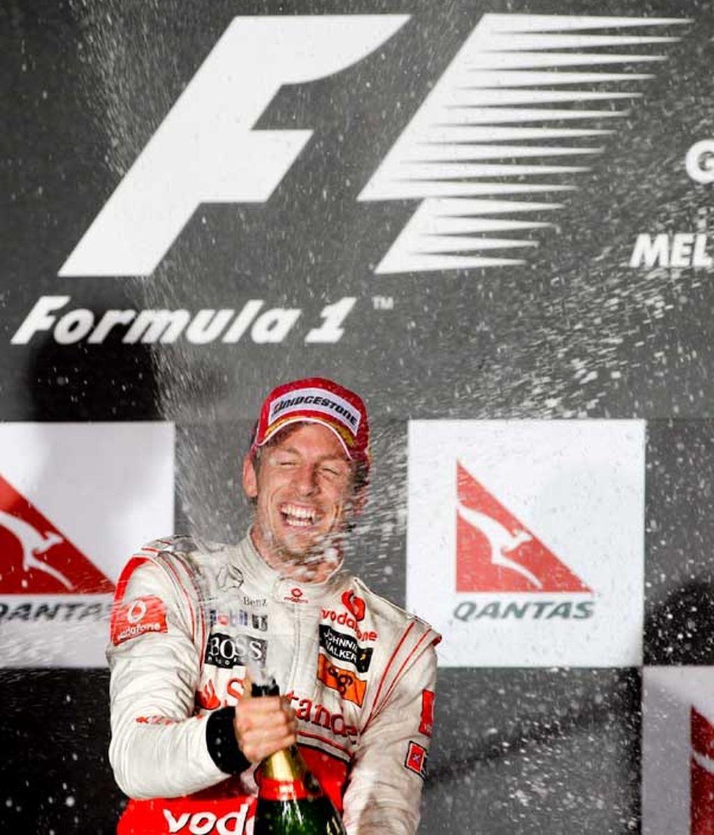 Button celebra la victoria