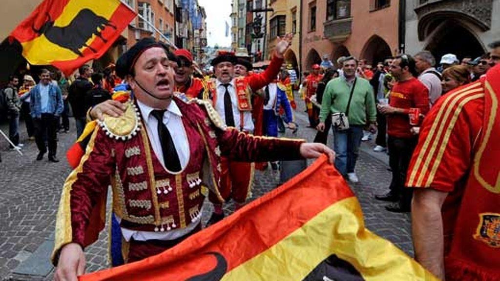 Aficionados de la selección española