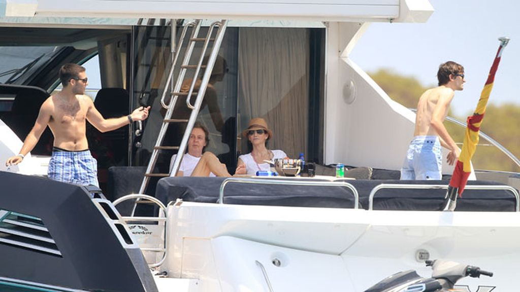 Paul McCartney y Nancy Shevell, en Ibiza