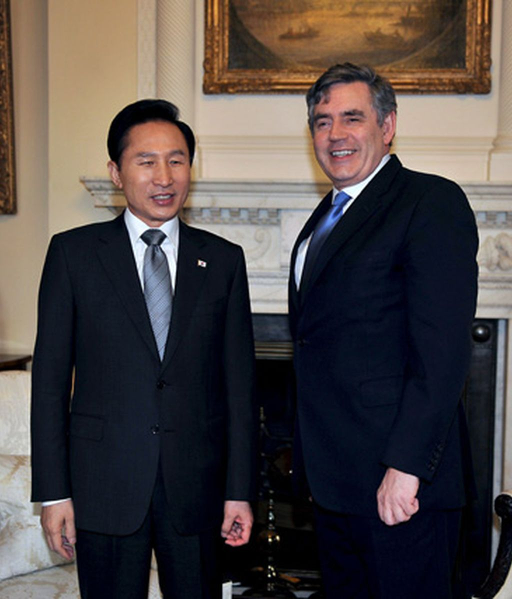 Lee Myung -bak y Gordon Brown