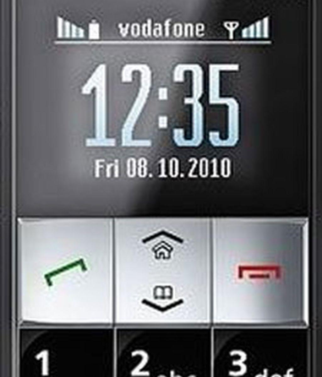 El teléfono de Vodafone es muy fácil de usar. Foto: Vodafone