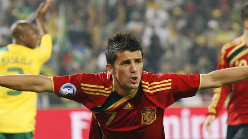 Villa marcó un soberbio gol ante Suráfrica