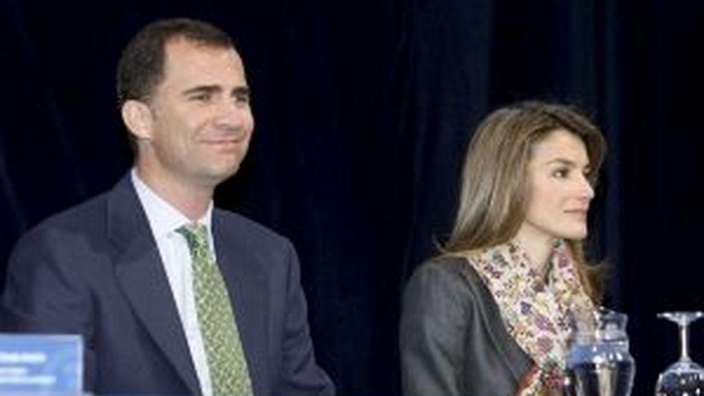 Los Príncipes de Asturias durante el acto de inauguración oficial del Congreso Mundial de la Web. Foto:EFE