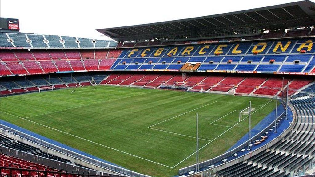 Perspectiva aérea del Camp Nou de Barcelona. Foto: EFE