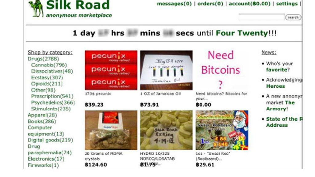 Silk Road es una plataforma para la compra y venta de estupefacientes