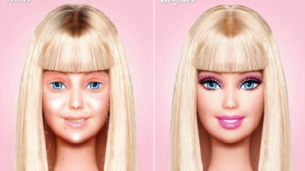 La muñeca Barbie sin maquillaje