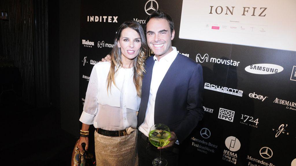 El ex futbolista Iván Helguera con su mujer Lorena Casado