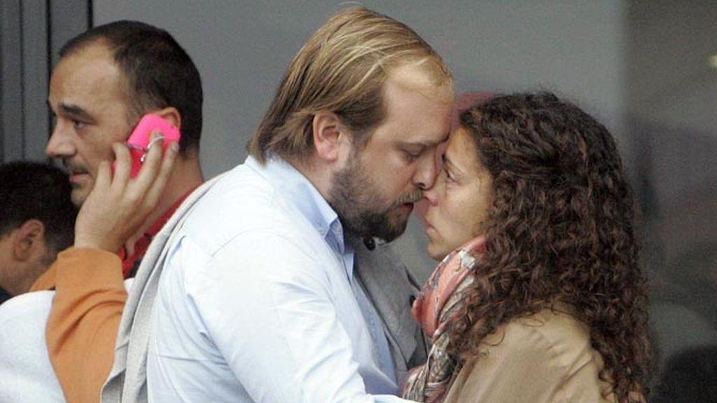Familiares de las víctimas de la tragedia de Santiago