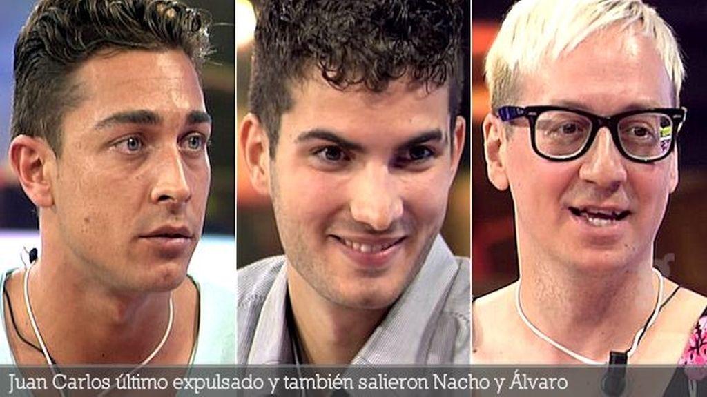 Juan Carlos último expulsado y también salieron Nacho y Álvaro