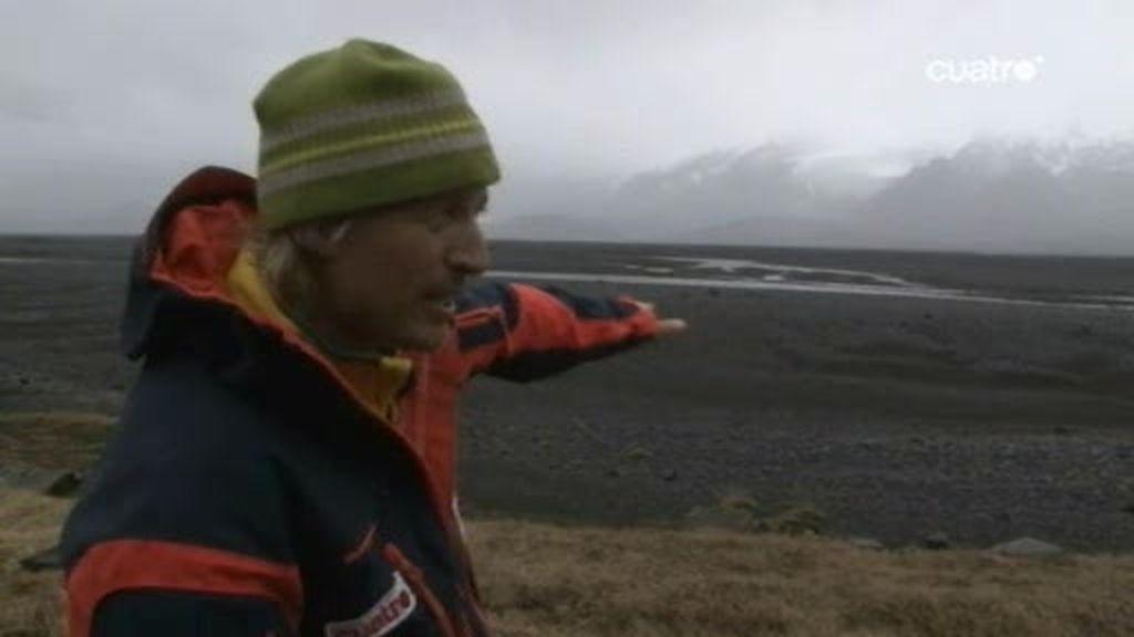 Jesús se acerca a dos km del volcán