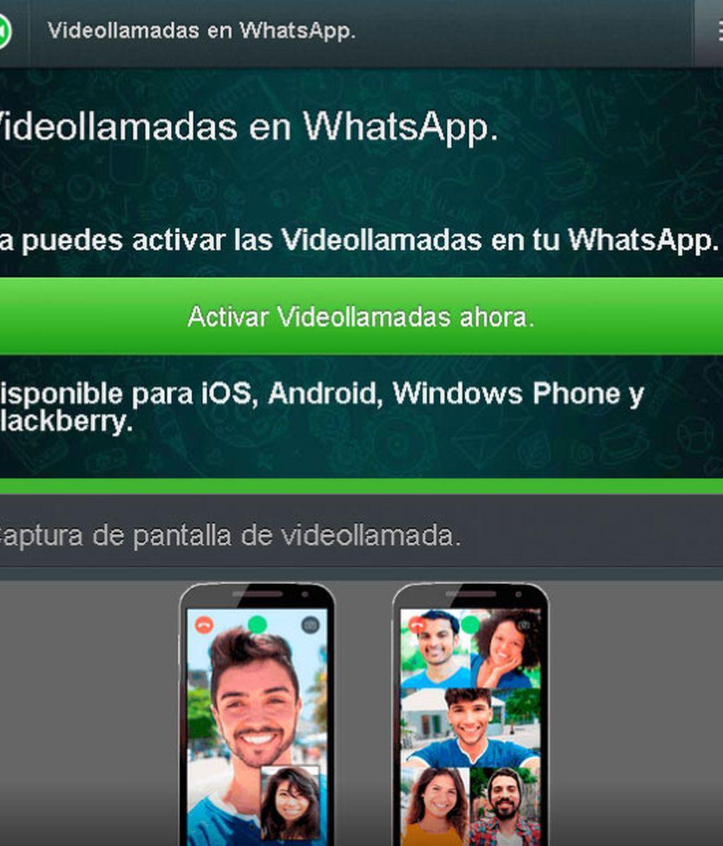 servicio de videollamadas WhatsApp, WhatsApp
