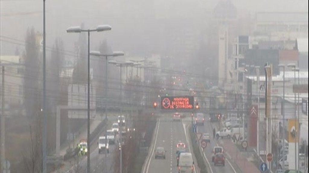 Niebla espesa también este martes