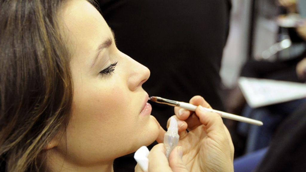 Para los labios, Malena apuesta por el brillo del gloss