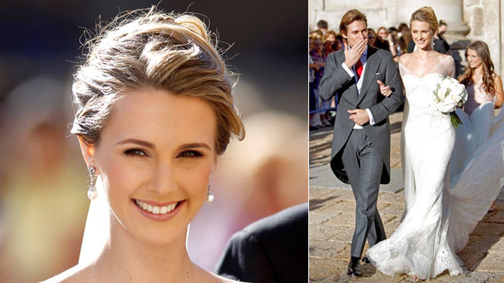 Astrid Klisans, la flamante mujer de Carlos Baute, lució espectacular en su boda gracias al diseñador catalán