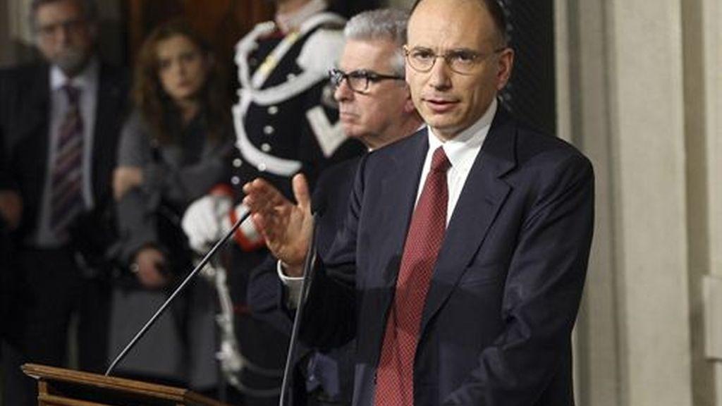 Letta anuncia el nuevo Gobierno de Italia