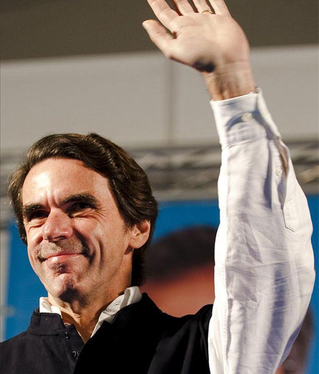 El ex líder de los populares, en la localidad malagueña de Estepona.