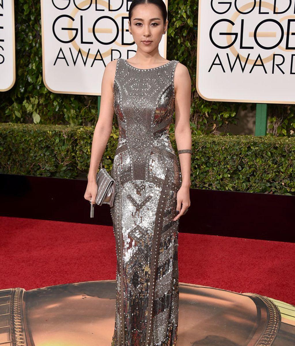 Jane Wu vestida de Theia Couture