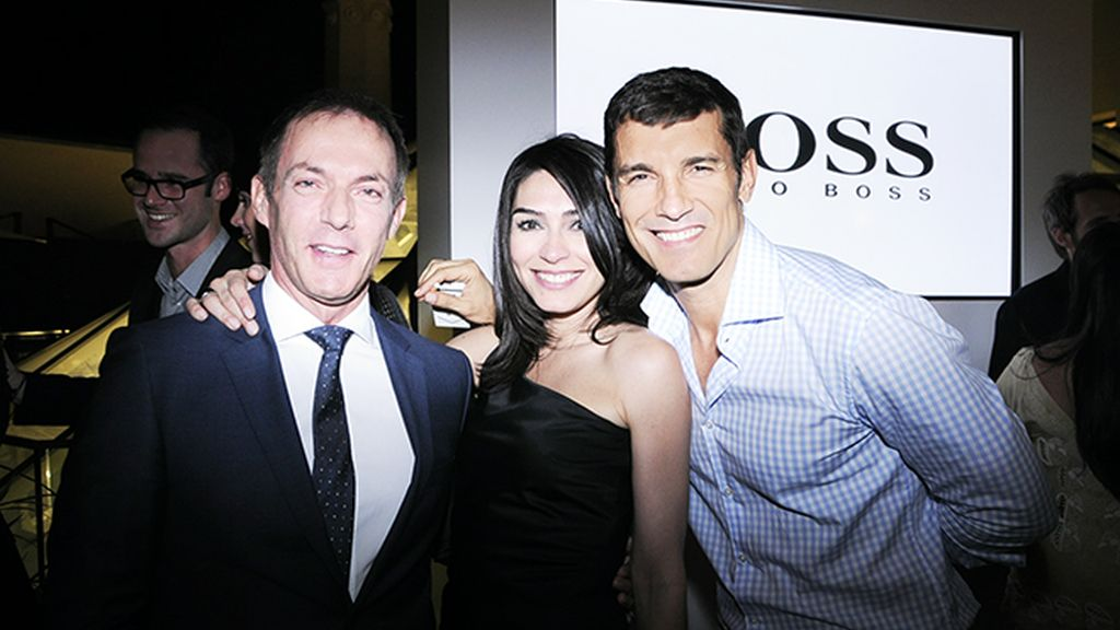 Concentración de guapos en la fiesta de Hugo Boss