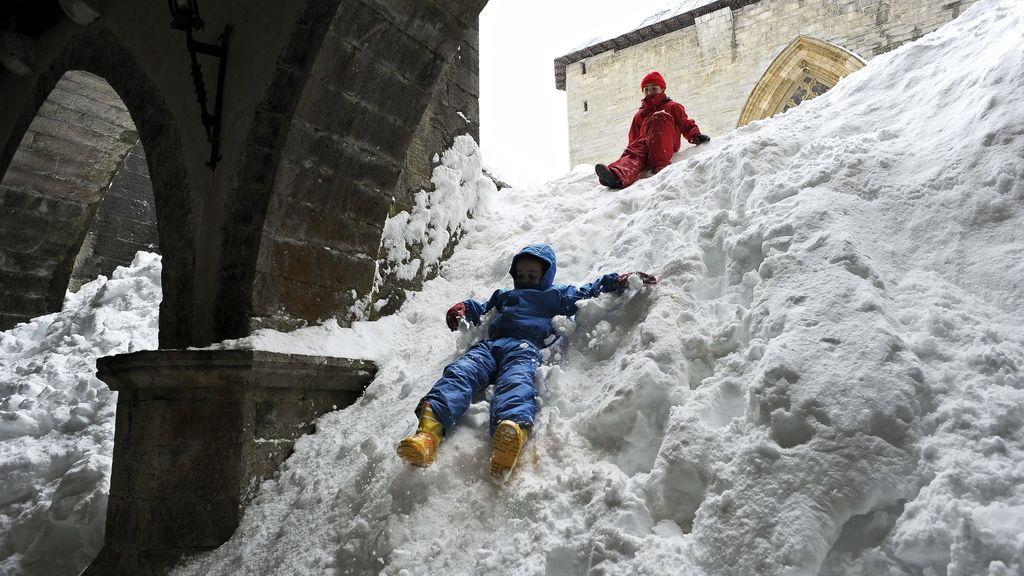 Temporal de nieve. Foto: EFE