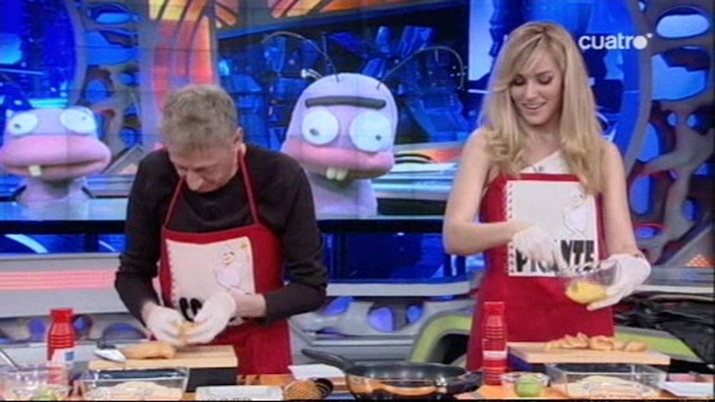Enrique y su cocina extrema con Edurne