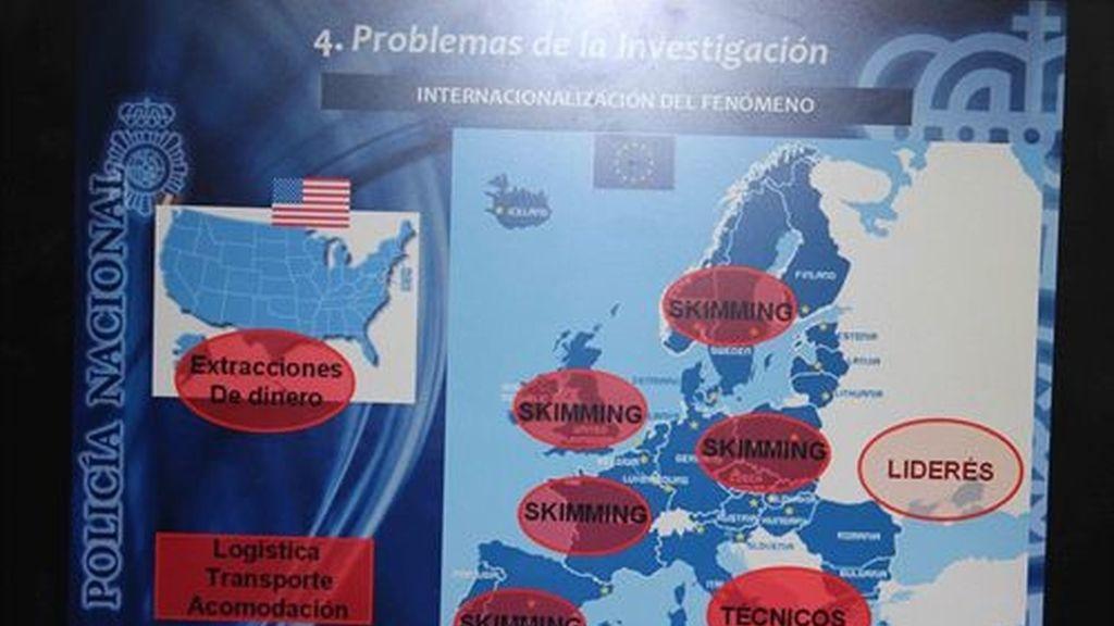Detenidas 9 personas integrantes de una banda internacional de clonadores de tarjetas