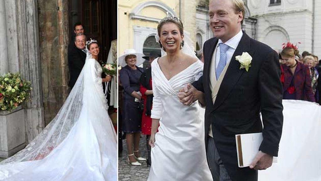 20/11/2010 Annemarie Gualtherie y el príncipe Carlos de Bourbon/ Bruselas (Bélgica)