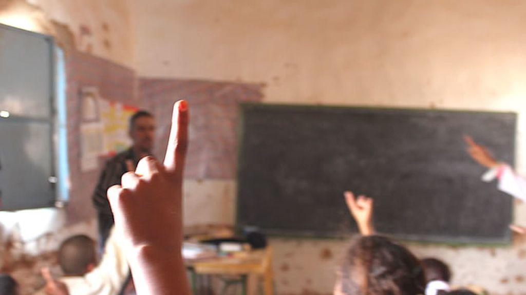 Impartiendo clase
