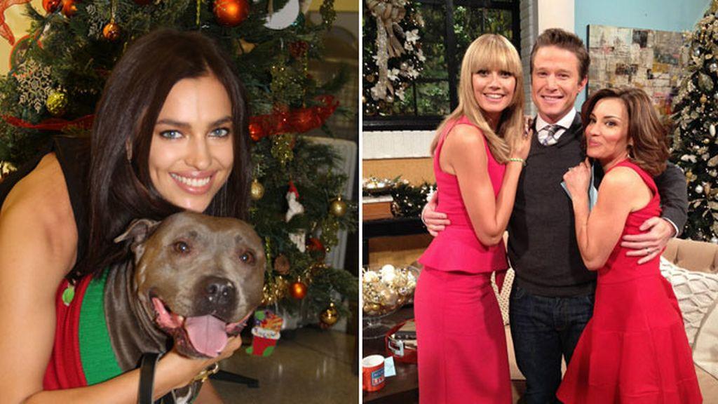 Irina Shayk y Heidi Klum: el espíritu navideño también en los actos oficiales