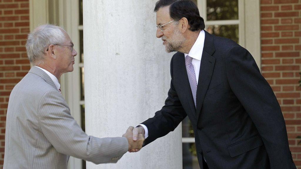 Mariano Rajoy recibe a Van Rompuy