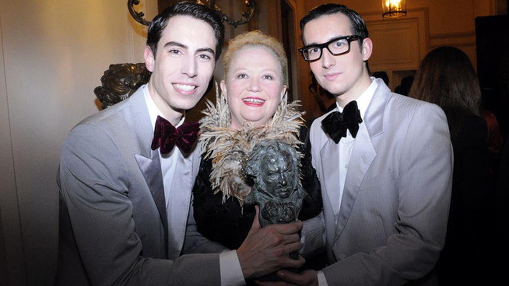 """Con nuestra amiga Sylvie Imbert, merecidísima ganadora del Goya al mejor maquillaje por su exquisito trabajo en """"Blancanieves"""""""