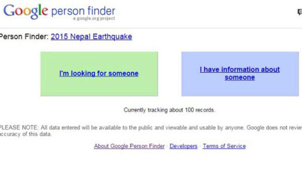 Google pone en marcha un buscador de desaparecidos en Nepal