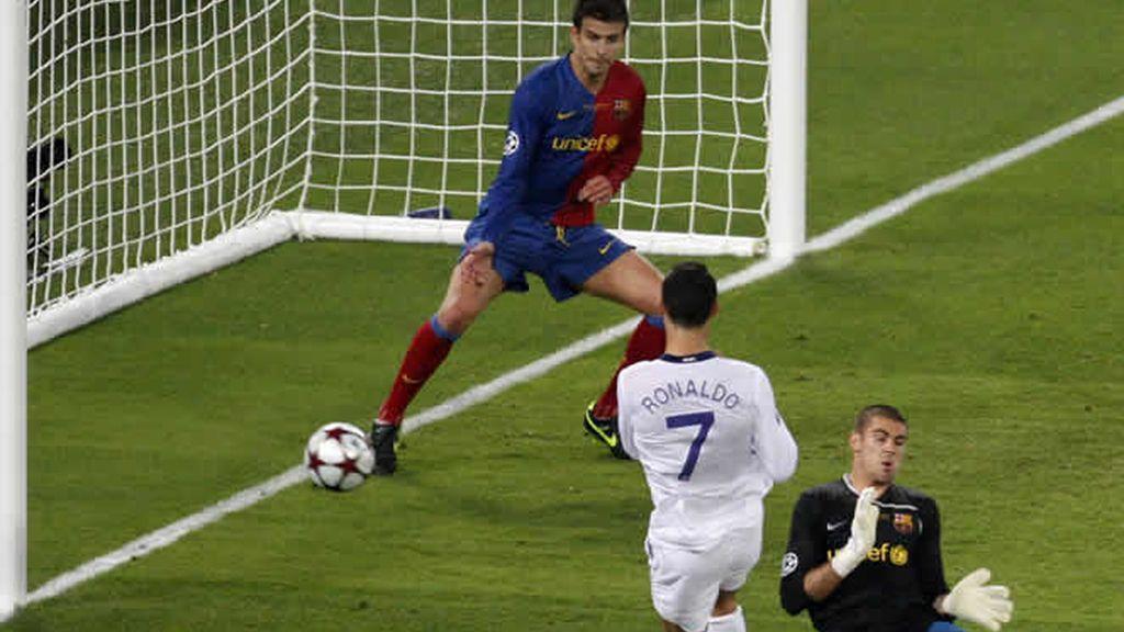 Una de las ocasiones de Cristiano Ronaldo