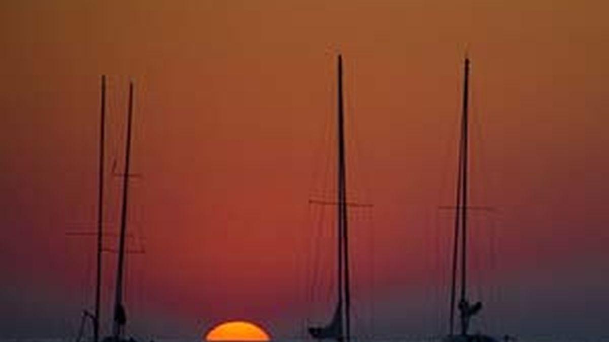Imagen de la playa donostiarra al atardecer. Foto: Informativos Telecinco